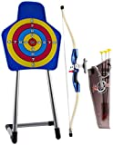 deAO Quality Youth Recurve Bow Arrow and Target with Holder Set Children Junior Archery Training Toy for Kid Outdoor Teams Game Gift