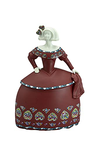 Nadal Figura Decorativa menina posando, Resina, Multicolor, 6.50x9.50x14.00 cm