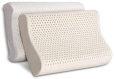 100% Organic Latex Contour Pillow for Neck Pain...