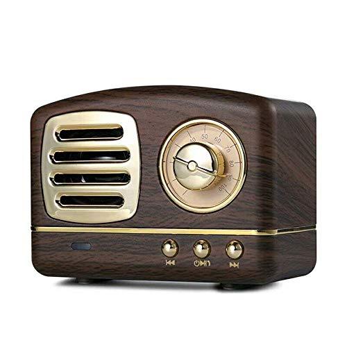 COOLEAD Altavoz portatil Bluetooth Vintage Mini Efecto del