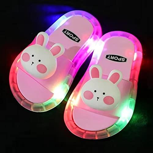 Mlcjva 2021 Estate Estate Pantofole per Bambini Giardino per Bambini Bagno Bagno Sandali per Bambini Scarpe per Bambini Ragazza Shine Light Flash