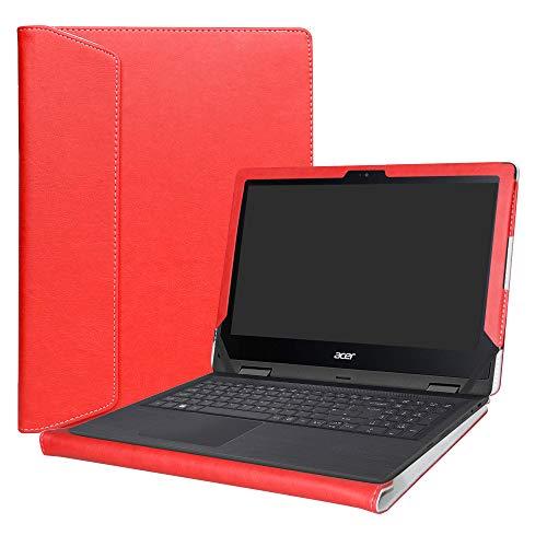 Alapmk Diseñado Especialmente La Funda Protectora de Cuero de PU para 11.6' Acer Spin 1 11 SP111-32N Series Ordenador portátil(No Compatible con Spin 1 SP111-31 SP111-31N SP113-31 Series),Rojo