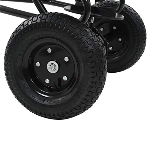 vidaXL Streuwagen Anhänger PVC 45L Düngerstreuer Salzstreuer Saatgutstreuer;;;;; - 8