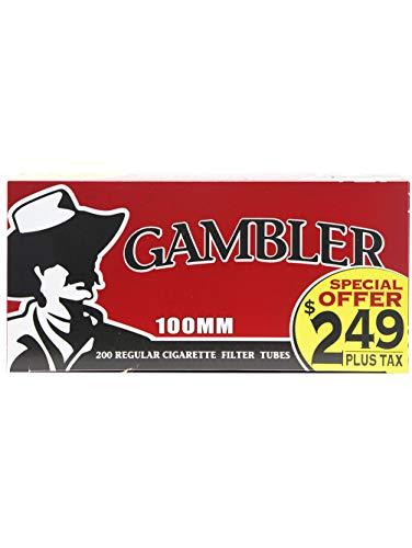 Gambler Regular 100mm (100s) Pre-Priced RYO Cigarette Tubes 200ct Box (5 Boxes)