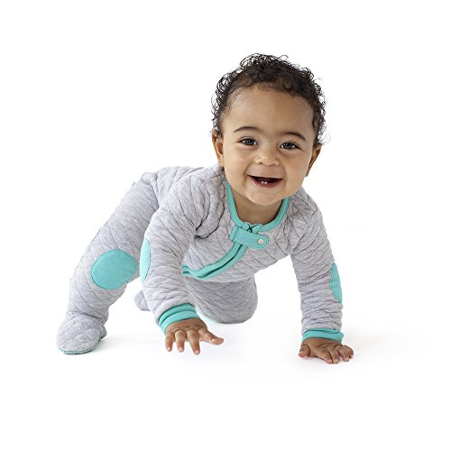 baby deedee Sleepsie Cotton Quilted Footie Pajama, 12-18 Months, Heather...