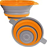 Kitchen Maestro Collapsible Silicone Colander/Strainer. Includes 2 Sizes 8 and...
