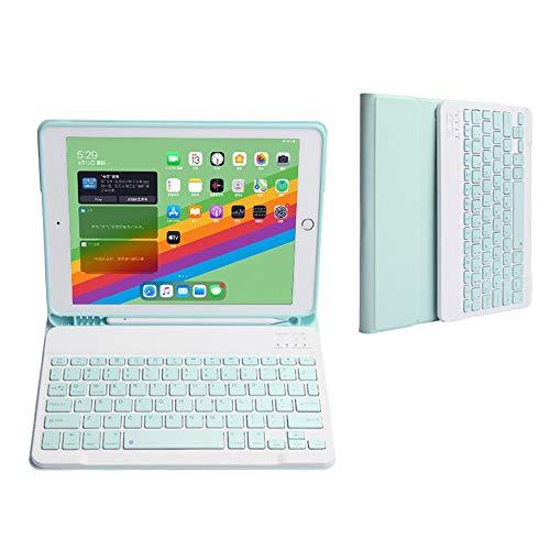 人気 iPad 10.2キーボードケース 2020 iPad8 第8世代 Apple Pencil収納可能 ワイヤレスBluetooth キーボード 分離式 iPad 7 ケース 超軽量 手帳型 可愛い お洒落 脱着式 キーボード スタンド機能 (iPad