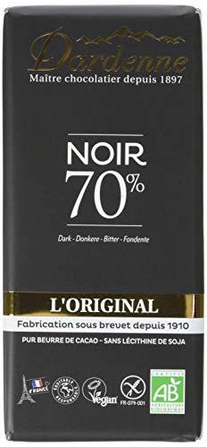 Dardenne Tablette l'Original Chocolat Noir 70% Cacao 100 g - Lot de 9