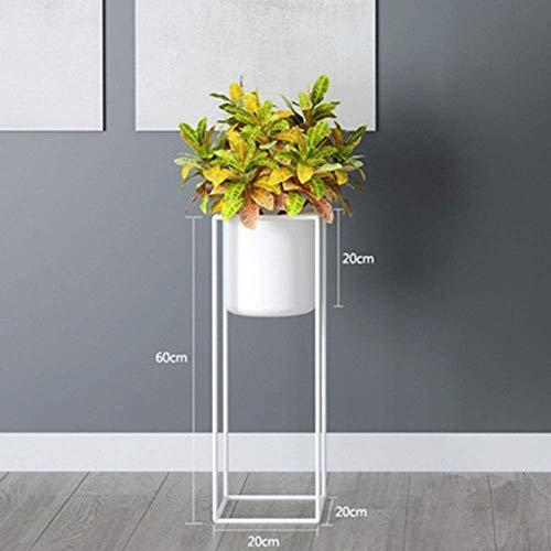 yunyu Macetero Moderno de Metal para Interiores y Exteriores, para decoración de jardín, Soporte para Flores para Interiores y Exteriores, 20x20x60cm, jarrón nórdico