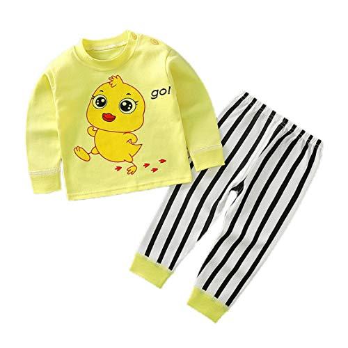Kinderpyjamas Set Baumwolle Cartoon Muster Kinderpyjamas Geeignet für den täglichen Gebrauch Picknicks und Fotos - Big Foot - 80cm