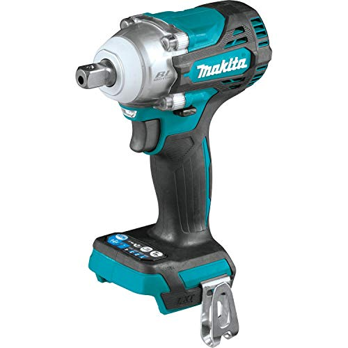 """Makita XWT15Z 18V LXT Lithium-Ion Brushless Cordless 4-Speed 1/2"""" Square Drive Impact Wrench with Detent Anvil, Tool Only"""