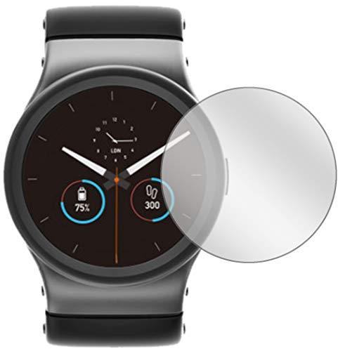 Ecultor I 3X Schutzfolie passend für Uhr 26 mm Durchmesser Displayschutz-Folie Klar