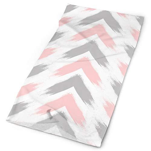 Nonebrand Moderno Pastel Rosa Gris Flecha Cepillos Multifuncional Tocado de la Cabeza Elástico al aire libre Cuello Transpirable Protección UV Escudo de la Cara Calentador de la Muñequera para todo el año