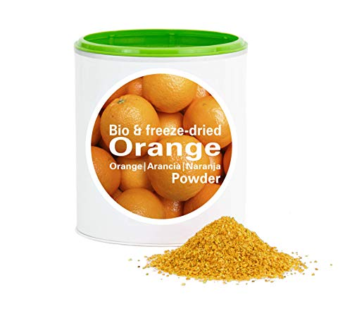 Orangenpulver – Bio Orange gefriergetrocknet |bio organic| freeze-dried orange| good-superfruit von good-smoothie| 100% frucht |ohne zusatzstoffe + viele Inhaltsstoffe| 120g