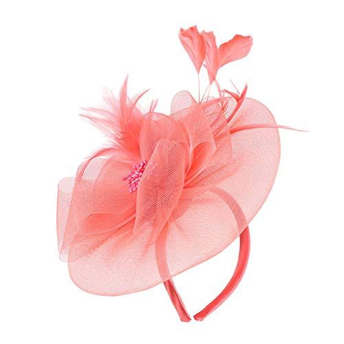 Haarschmuck Kopfschmuck Mesh Haar Clip Schleier Top Hut Mode Haarbänder Haarspangen haarreif Kopfbedeckungen Blumenkranz Braut Kopfschmuck Schleier Kranz Schleier Hochzeit Haarschmuck Pink/Red