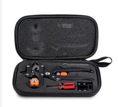 Professional outils de fruits Greffe bonsaï Sécateur Ciseaux Vaccinations couteau de coupe Sécateur outils de jardin avec 2 lames
