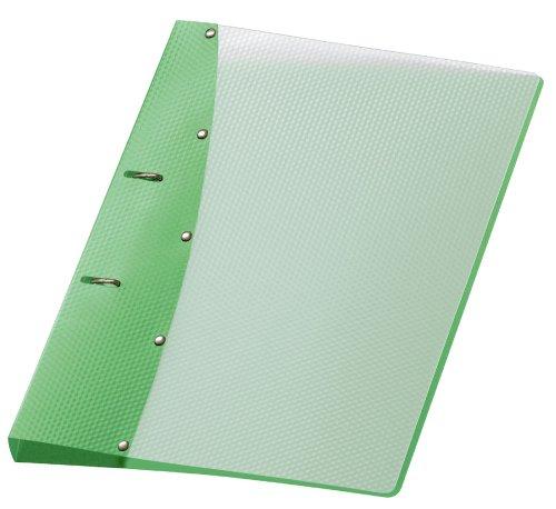 Veloflex 1141441 Ringordner Diamond, Ringbuch, Ordner, DIN A4, 2-Ring-Mechanik, 20 mm, PP-Vollkunststoff, grün