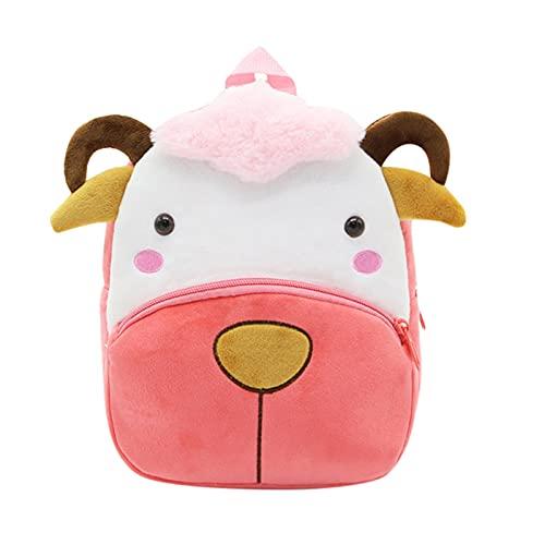 Honestyi Kinderrucksack Rucksack für Mädchen, Kleiner Schulranzen Mädchen, Tiere Kinder Rucksäcke Leichte wasserdichte Büchertasche für Mädchen Kindergartenschüler 26x24x10cm