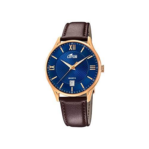 Lotus Herren Analog Quarz Uhr mit Leder Armband 18404/C