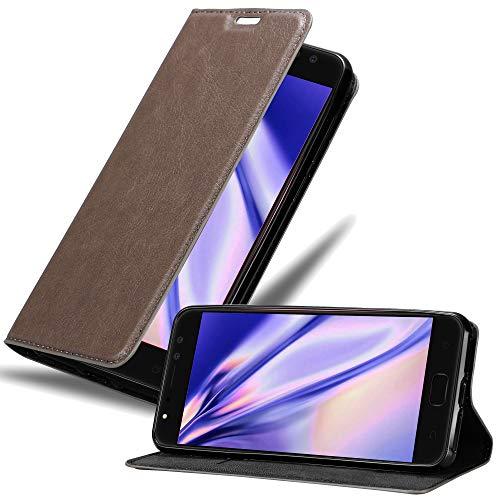 Cadorabo Hülle für Asus ZenFone 4 Selfie PRO - Hülle in Kaffee BRAUN – Handyhülle mit Magnetverschluss, Standfunktion & Kartenfach - Case Cover Schutzhülle Etui Tasche Book Klapp Style