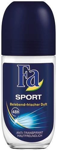 Unbekannt 12x FA–Men Sport, 48h Anti transpirant Desodorante Roll On–50ml