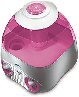 Vicks Starry Night Cool Moisture Humidifier with Projector & VapoPad Scent Pad Heater, Pink
