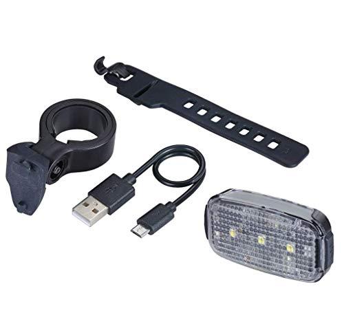 BBB Fahrradlicht-Scheinwerfer, USB wiederaufladbar, wasserdicht, MTB Urban Road 24 Lumen, BLS-146, Schwarz