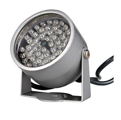 BW Luz de iluminación infrarroja con 48 LED IR para cámara CCTV de visión nocturna, color plateado