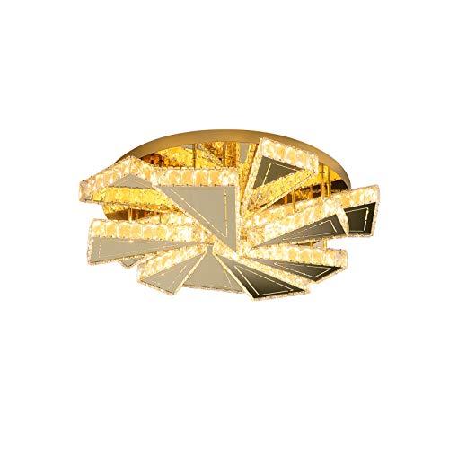 Crystal Light LED Focos de Techo para Dormitorio Regulable con Control Remoto Salón Lámpara de Techo Dorado Habitación Infantil Cocinas Comedor Villa Mesa de Comedor Hotel Iluminación de Techo Ø65cm