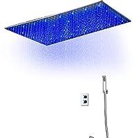 """シャワー排水カバー バスルームは大きなトップスプレー多機能シャワーセット、20 x 40インチを導いた (Color : Silver, Size : 20*40"""")"""