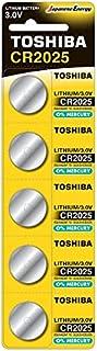 بطاريات ليثيوم 3 فولت من توشيبا CR2025 PW BP-5 - 5 قطع