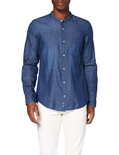 United Colors of Benetton Camicia Camisa Casual, Azul (BLU Denim 901), X-Large para Hombre