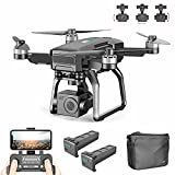 XIAOKEKE F7 Drone Plegable con Camara 4K HD, 5Ghz WiFi FPV Drone GPS, Drones RC con Camara Profesional, Modo Sin Cabeza para Niños & Principiantes, Largo Tiempo De Vuelo 50Minutos (2 Baterias)
