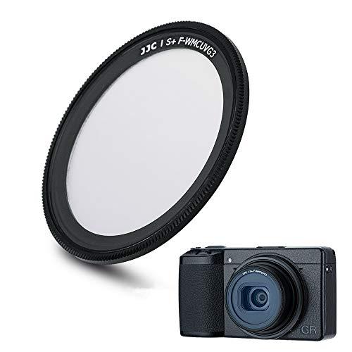JJC UV-Filter für Ricoh GR III GR II GR3 GR2 Kamera, Ultra Slim 19 Schichten mehrfach beschichteter Objektivfilter Schutz