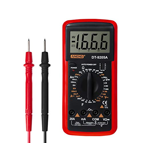 AFFECO ANENG DT-9205A Digital Voltmeter Strom Spannungswiderstand Tester (rot)