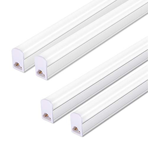 (Pack of 4) LED T5 Integrated Single Fixture, 3FT, 15W, 6000K, 1500lm, Linkable Utility Shop Lights, LED Ceiling & Under Cabinet Light, T5 Fluorescent Tube Light Fixture Replacement