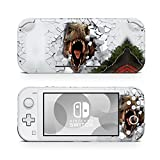 Switch Lite Skin Decal Stickers by ZOOMHITSKINS, Same Decal Quality for Cars, Dinosaur White Wall Roar Reptile T Rex, High Quality, Durable, Bubble-free, Goo-free, Made in USA