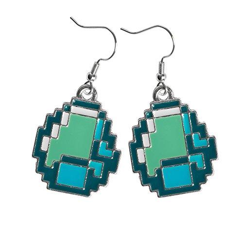 JINX Minecraft Diamond Ore Pendant Earrings