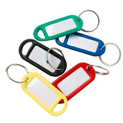 48Pcs Luggage Tag Plastic Suitcase Travel Baggage Name Tags Bag Labels ID Address Holder(Random Color) Tool