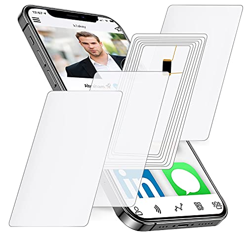 10pcs NFC Tags Blank NTAG215 NFC Cards, 504 Bytes programmable NFC Tags,iPhone NFC Tags,Work with TagMo and Amiibo for All NFC-Enabled Smartphones and Devices