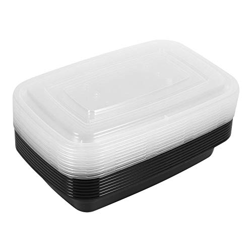Meal Prep Containers10pcs BPA-Free Plastic Airtight Leak-resistant Microwavable Stackable Food Storage Lunch Box with LidsDurable for Microwave Freezing in the Freezer Safe