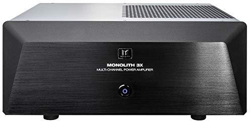 Monolith Multi-Channel Power Amplifier - Black with 3x200 Watt Per Channel, XLR Inputs, for Home Theater & Studio
