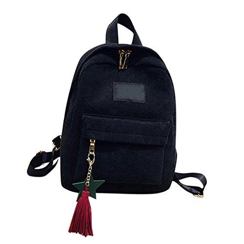 Majome Bolso del hombro de la señora mujeres mochila borla moda para la escuela de viaje portátil