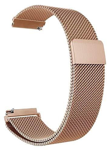 TSYGHP Correa de reloj de liberación rápida General, correa de repuesto de acero inoxidable, 16 mm, 18 mm, 20 mm, 22 mm, 24 mm, oro rosa (color: oro rosa, tamaño: 22 mm)