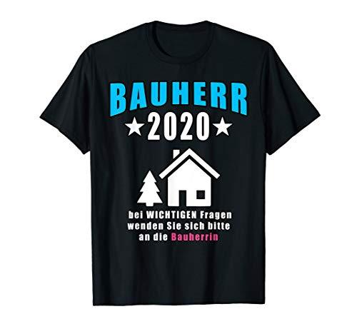 Herren Bauherr 2020 Geschenkidee Richtfest T-Shirt