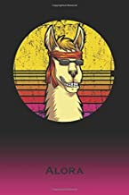 Alora: Llama Journal | Custom First Name Personal Writing Logbook | Letter A Classic Alpaca Old-Fashioned Nostalgic Sunset Cover | Daily Journaling ... about your Life, Experiences & Interests