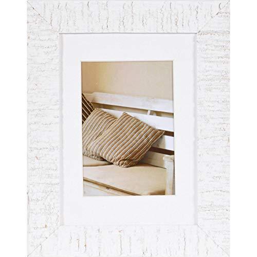 Henzo Driftwood Bilderrahmen, Holz, weiss, 13x18 cm