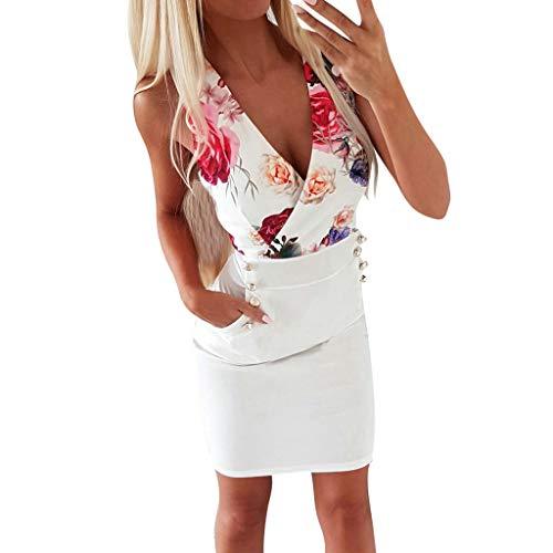 DQANIU- Sexy Kleid, Kleidung Schuhe & Accessoires - Kleid Damen Sommer Mode Kleid Sexy V-Ausschnitt...
