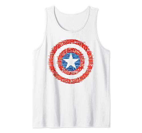 Marvel Captain America Glitched Shield Tank Top
