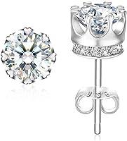 Swarovski Elements 925 Sterling Silver Crystal Studs Earrings for Females Women Ladies Girl friend Gift JRosee Jewelry JR905